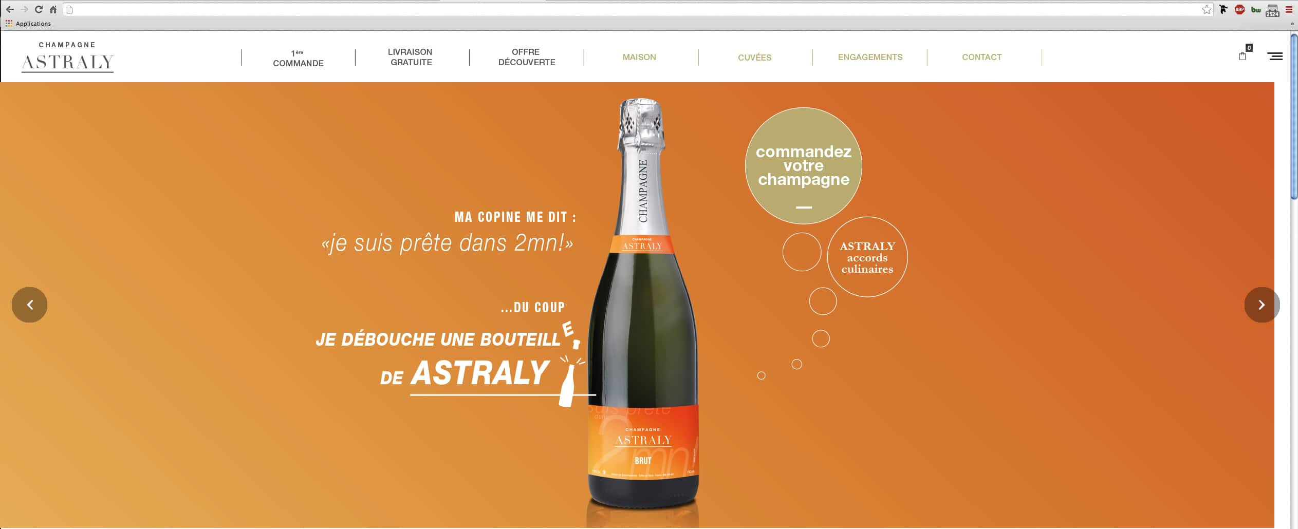 Lancement site Champagne Astraly